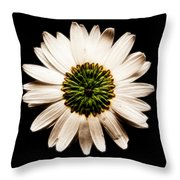 Dark Side Of A Daisy Square Fractal Throw Pillow