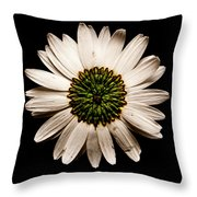 Dark Side Of A Daisy Square Throw Pillow