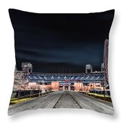 Dark Skies At Citizens Bank Park Throw Pillow