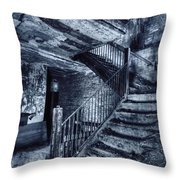 Dark Staircase Throw Pillow