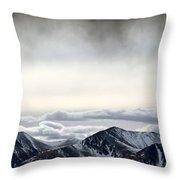 Dark Storm Cloud Mist  Throw Pillow