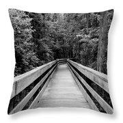 Dark Stroll Throw Pillow