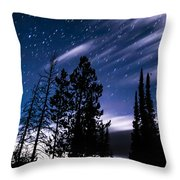 Darkness At Ledgefork Throw Pillow