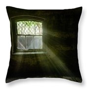 Darkness Revealed - Basement Room Of An Abandoned Asylum Throw Pillow