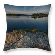 Darky Lake Throw Pillow