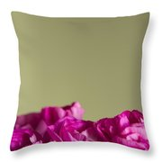 Darling Dianthus Throw Pillow