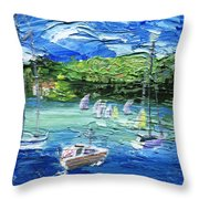 Darling Harbor II Throw Pillow