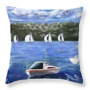 Darling Harbor Throw Pillow
