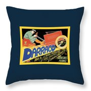 Darracq Suresnes France Throw Pillow