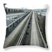 Dart Central Station - Des Moines Throw Pillow