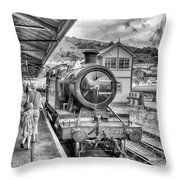 Dart Valley Railway Throw Pillow