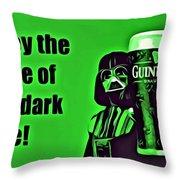 Darth Drinks Guinness Throw Pillow