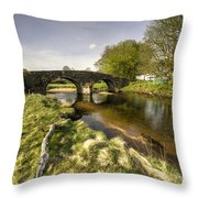 Dartmoor Bridge  Throw Pillow