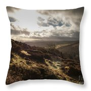 Dartmoor Drama Throw Pillow