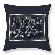 Dartmouth Football Team 1901 Throw Pillow by Edward Fielding