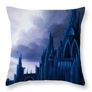 Dartonian Castle Throw Pillow