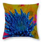 Dash Of Blue Throw Pillow