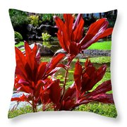 Dash Of Red Throw Pillow