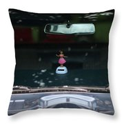 Dashboard Hula Girl Throw Pillow