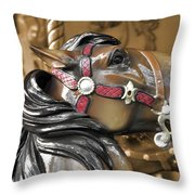 Dashing Horses Throw Pillow by JAMART Photography