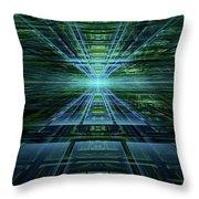 Data Pathways Throw Pillow