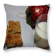 Date Squares - Snack - Dessert - Milk Throw Pillow