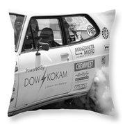 Datsun Smoking Tires Throw Pillow