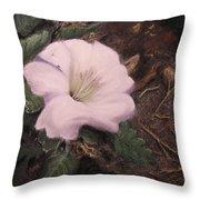 Datura Desert Lily Throw Pillow