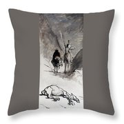 Daumier: Don Quixote Throw Pillow