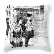 January, 1850 Throw Pillow