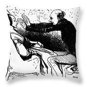 Daumier: The Hypnotist Throw Pillow