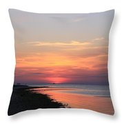 Dauphin Island Sunset Throw Pillow