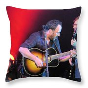 Dave And Stefan Jam Throw Pillow
