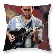 Dave Matthews Throw Pillow by Viola El
