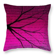 Dave Matthews Band Crush Lyric Art - Pink Throw Pillow