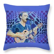 Dave Matthews-op Art Series Throw Pillow
