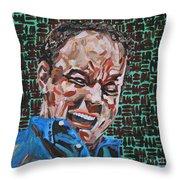 Dave Matthews Portrait Throw Pillow