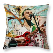 Dave Matthews Shotgun Throw Pillow by Joshua Morton