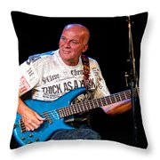 Dave Pegg Bass Player For Fairport Convention And Jethro Tull Throw Pillow