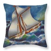 Daves' Ship Throw Pillow