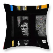 David Carradine Jail Young Billy Young Old Tucson Sound Stage Tucson Arizona 1968 Throw Pillow