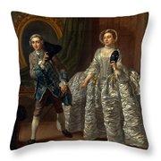 David Garrick And Mrs. Pritchard In Benjamin Hoadley's The Suspicious Husband  Throw Pillow