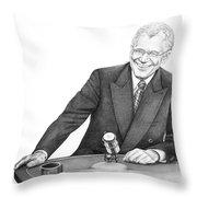 David Letterman Throw Pillow