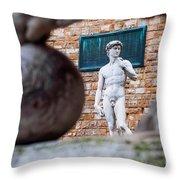 David Throw Pillow by Luis Alvarenga