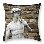 David Statue Throw Pillow