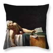 David: The Death Of Marat Throw Pillow