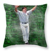 David Wells Yankees Perfect Game 1998 Throw Pillow