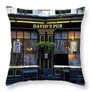 David's Pub Throw Pillow