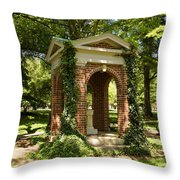 Davidson College Old Well Throw Pillow