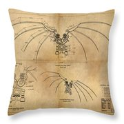 Davinci's Wings Throw Pillow